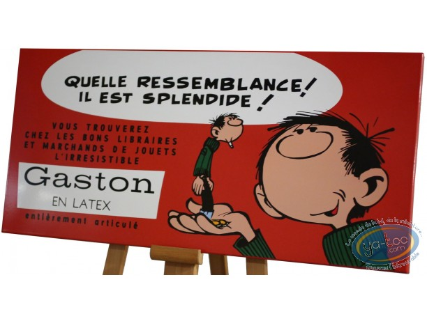 Plaque émaillée, Gaston Lagaffe : Gaston en latex