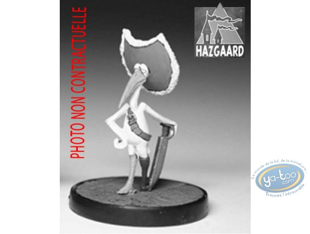 Figurine métal, Cape et de Crocs (De) : Cigognac (non peinte)