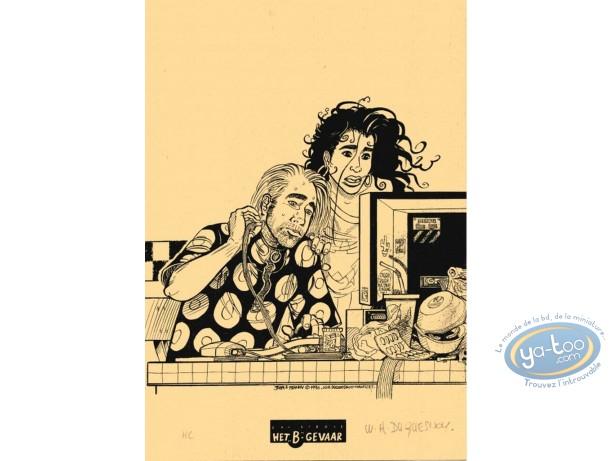 Ex-libris Sérigraphie, John et Franny : Duquesnoy, John & Franny