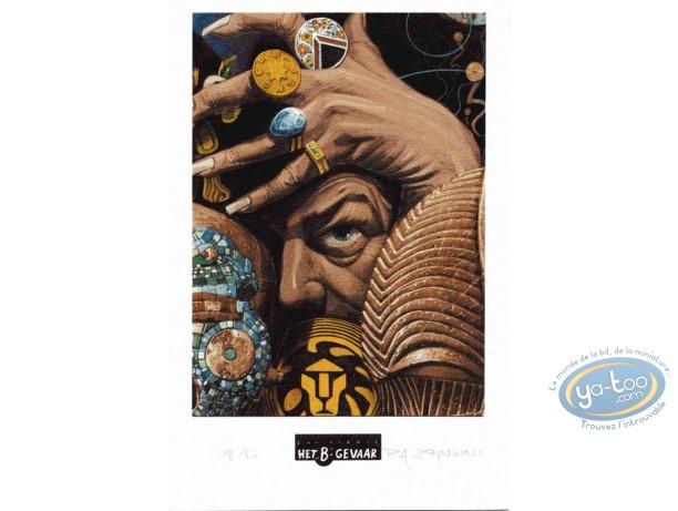 Ex-libris Offset, Création (La) : Visage