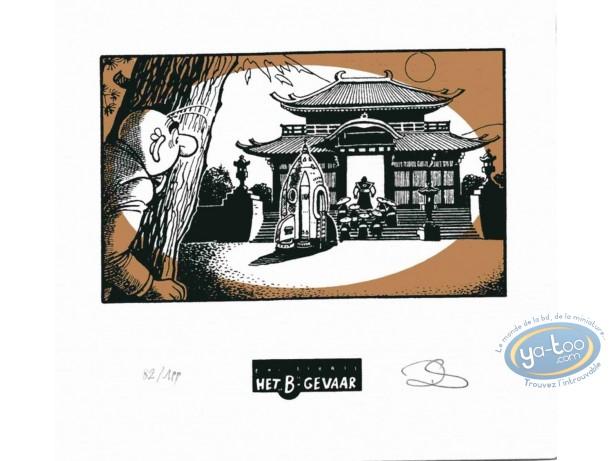Ex-libris Sérigraphie, Néron : La pagode