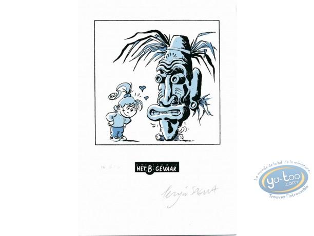 Ex-libris Sérigraphie, Nathalie : Le masque