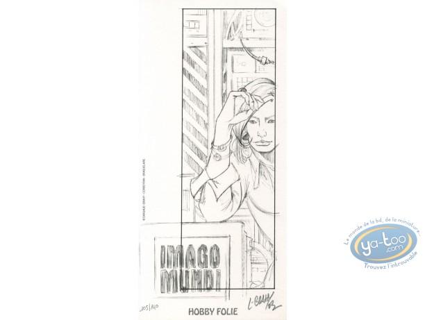 Ex-libris Offset, Imago Mundi : Femme (crayonné)