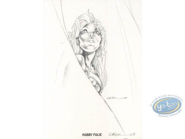 Ex-libris Offset, Atalante : Atalante (crayonné)