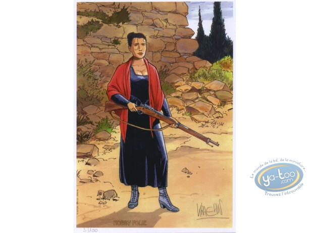 Ex-libris Offset, Quintett : Femme au fusil