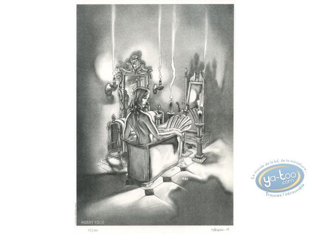 Ex-libris Offset, Malvoulant (Le) : Femme dans son bain