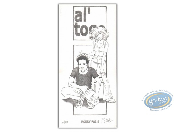 Ex-libris Offset, Al'Togo : Al'Togo et Jeune fille