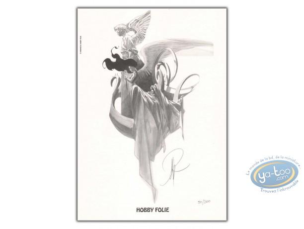 Ex-libris Offset, Paradis Perdu : Ange et statue