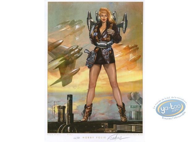 Ex-libris Offset, Robur : Femme volante
