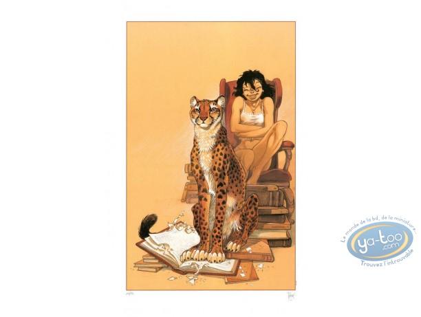 Affiche Offset, Zoo : Manon et le guépard