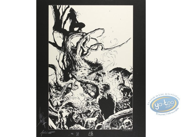 Affiche Sérigraphie, Geste des Chevaliers Dragons (La) : Festin au pied d'un arbre