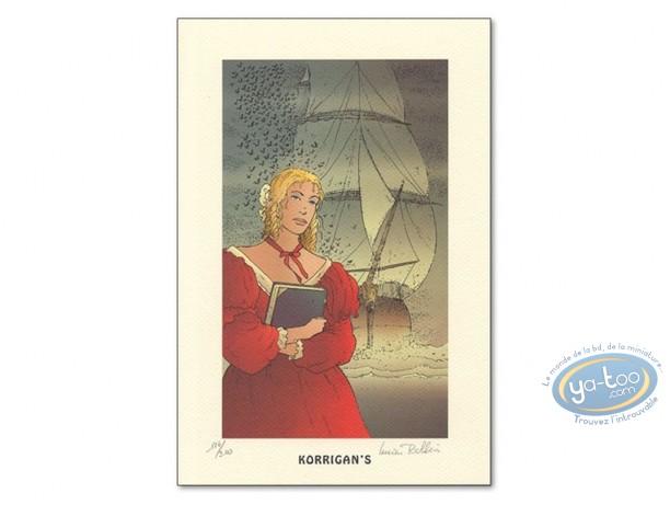 Ex-libris Offset, Ombres : Femme et bateau