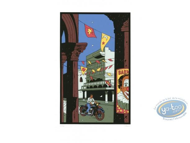 Affiche Sérigraphie, Jimmy Boy : A moto
