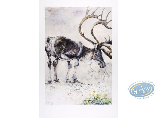 Affiche Offset, Le renne