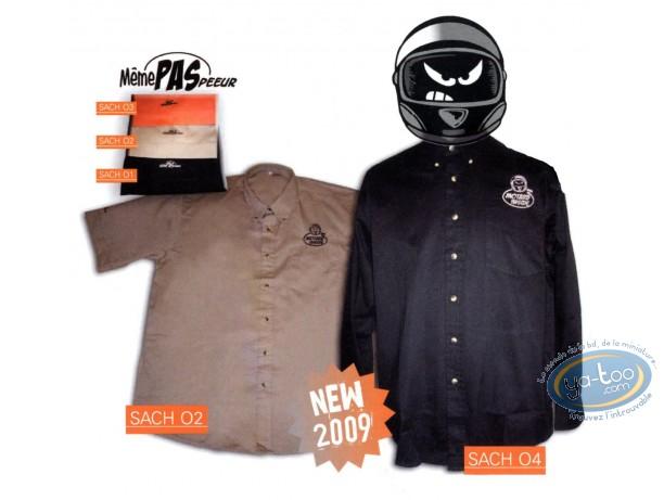 Vêtement, Même pas Peeur : Chemise, noire manches courtes, Taille XL