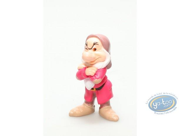 Figurine plastique, Blanche Neige : Grincheux, Disney