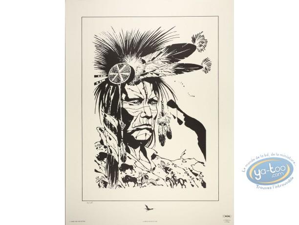 Affiche Offset, Indien Crow