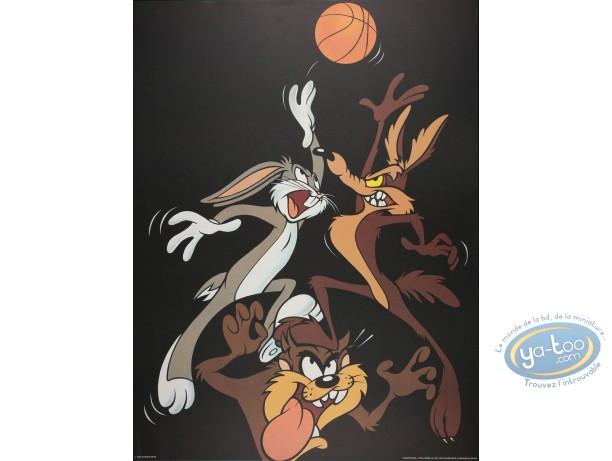 Affiche Offset, Looney Tunes (Les) : Looney basket 60X80 cm