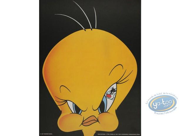 Affiche Offset, Titi : Titi menacé 30X40 cm