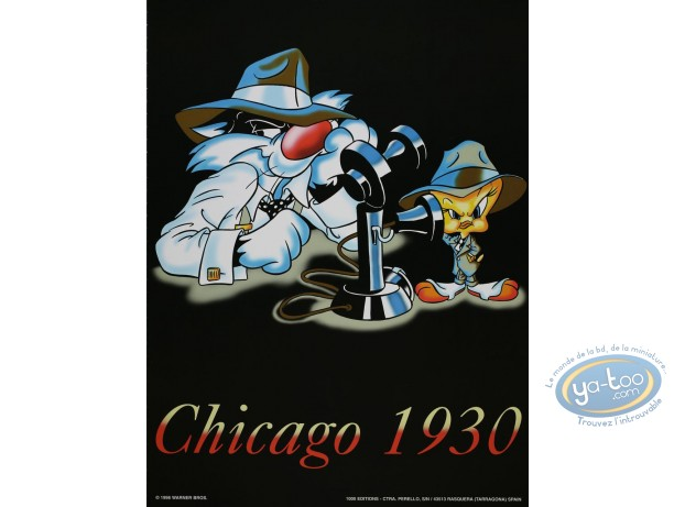 Affiche Offset, Titi : Chicago 1930 30X40 cm