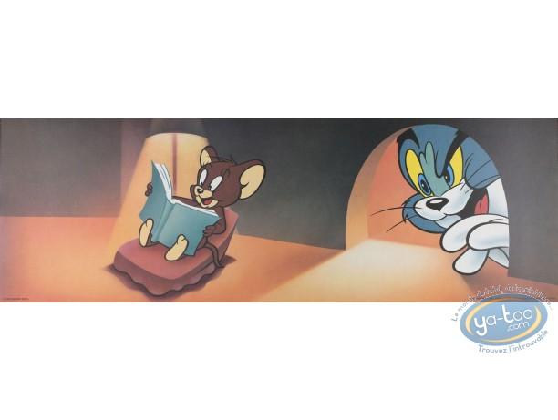 Affiche Offset, Tom et Jerry : La lecture 90X30 cm