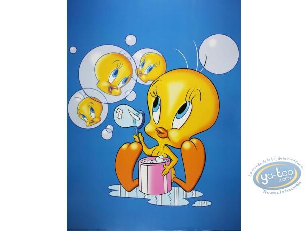Affiche Offset, Titi : Titi bulles 60X80 cm