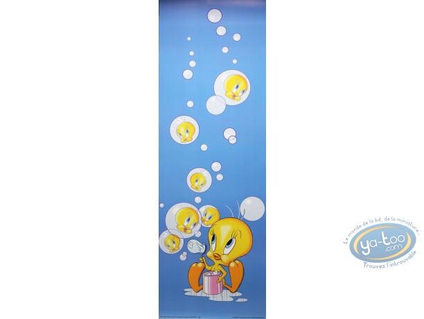 Affiche Offset, Titi : Titi bulles 30X90 cm