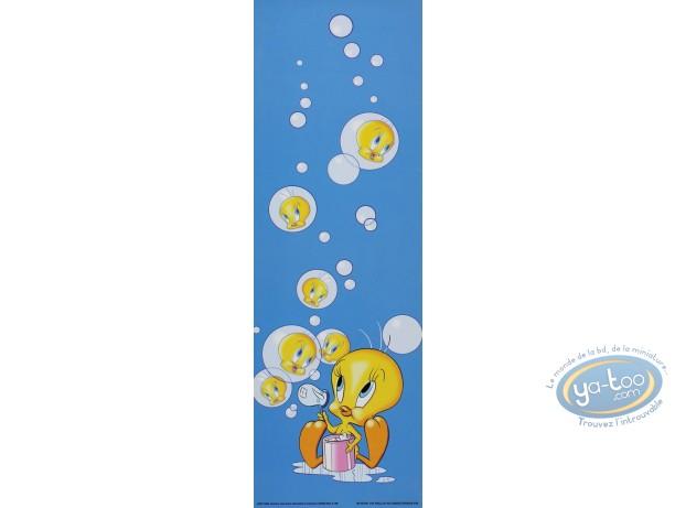 Affiche Offset, Titi : Titi bulles 15X45 cm