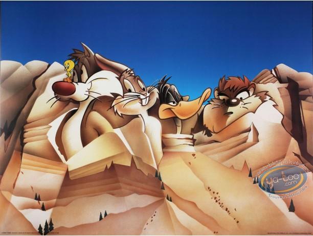 Affiche Offset, Looney Tunes (Les) : Les présidents 80X60 cm