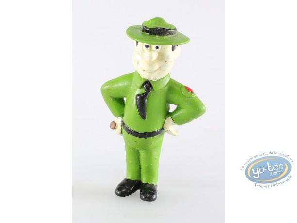 Figurine plastique, Yogi l'ours : Ranger smith matraque sur la hanche