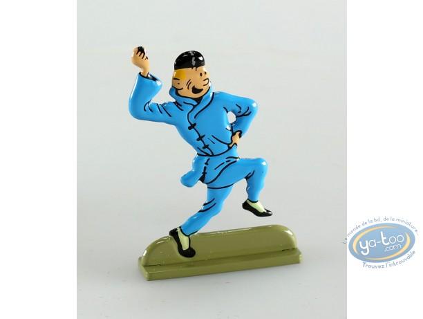 Figurine métal, Tintin : Le lotus bleu (bas relief)