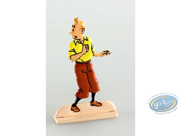 Figurine métal, Tintin : Tintin dans Le secret de la licorne (bas relief)