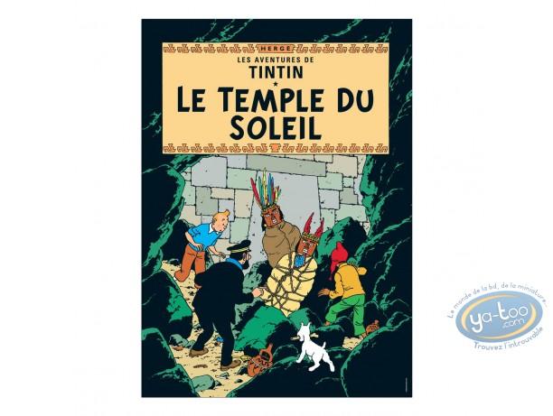 Affiche Offset, Tintin : Le Temple du Soleil