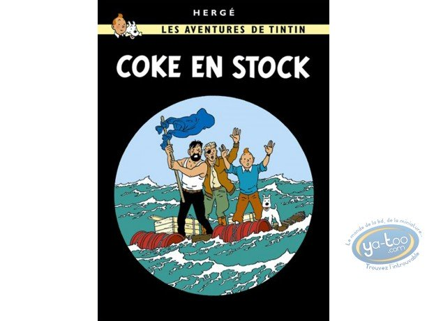 Affiche Offset, Tintin : Coke en stock