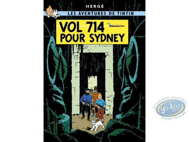Affiche Offset, Tintin : Vol 714 pour Sydney