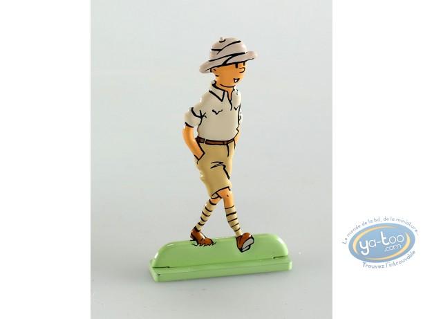 Figurine métal, Tintin : Tintin au Congo (bas relief)