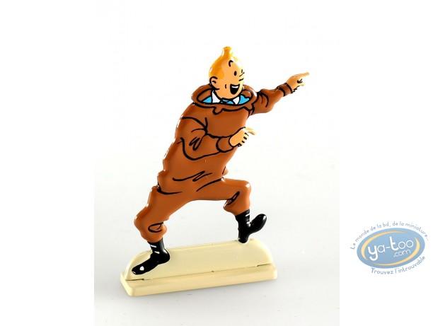 Figurine métal, Tintin : Tintin dans Le trésor de Rackham le rouge (bas relief)