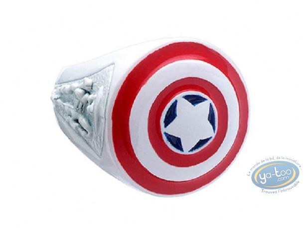 Bijou, Captain America : Bague, Capitaine América [Taille 50]
