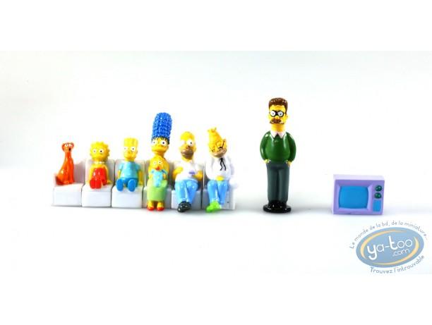Figurine plastique, Simpson (Les) : Série de 8 personnages Simpson, Panini