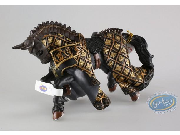 Figurine plastique, Cheval du Maître des Armes Cimier Taureau