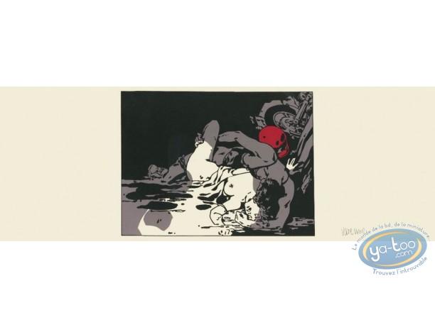 Affiche Sérigraphie, Varenne : Couple et moto