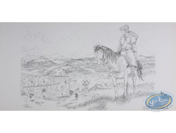 Jaquette, Mémoire de Cendres : Femme à cheval
