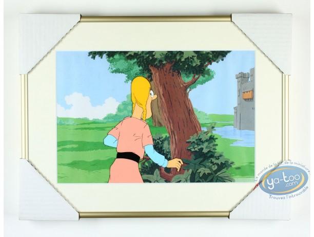 Originaux, Bob et Bobette : Cellulo original pour un dessin animé : Sidonie près d'un château fort