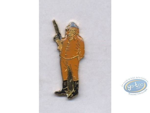 Pin's, Bernard Prince : Barney Jordan et fusil