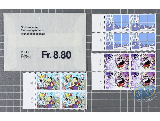 Timbre, Timbres Spéciaux Planches de 4 timbres, Cosey, Zep, Aloys