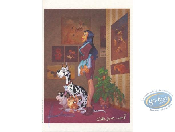 Ex-libris Offset, Secrétaires (Les) : Secrétaire  & chiens