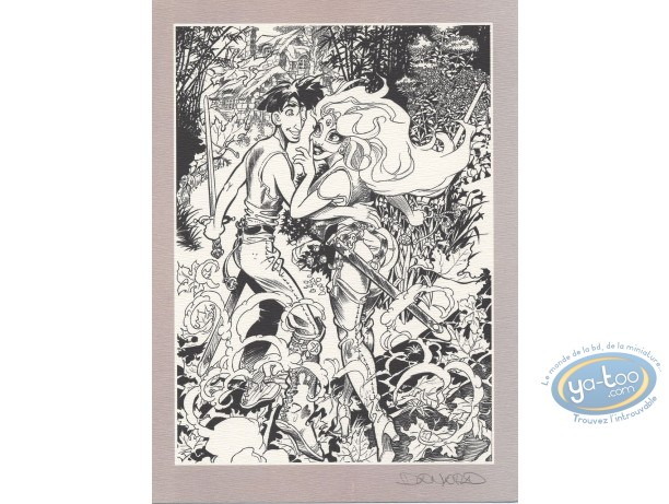 Ex-libris Offset, Marlysa : Marlysa et Tatrin n&b