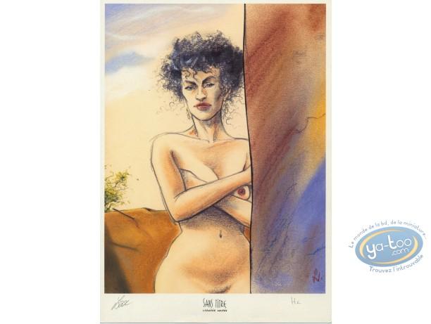 Ex-libris Offset, Azrayen : Femme nue