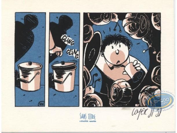 Ex-libris Sérigraphie, Mangeurs de Cailloux (Les) : Escargots