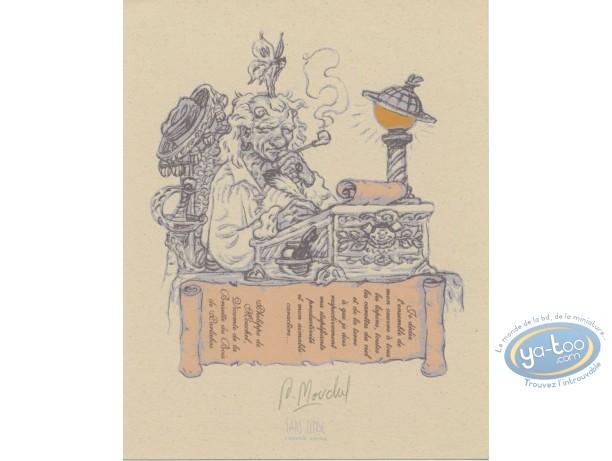 Ex-libris Sérigraphie, Mur de Pan (Le) : Vieil homme